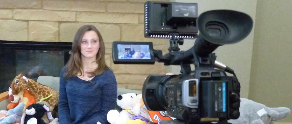 WEAU-TV interviewing Katharine for their coverage of Katharine's Wish
